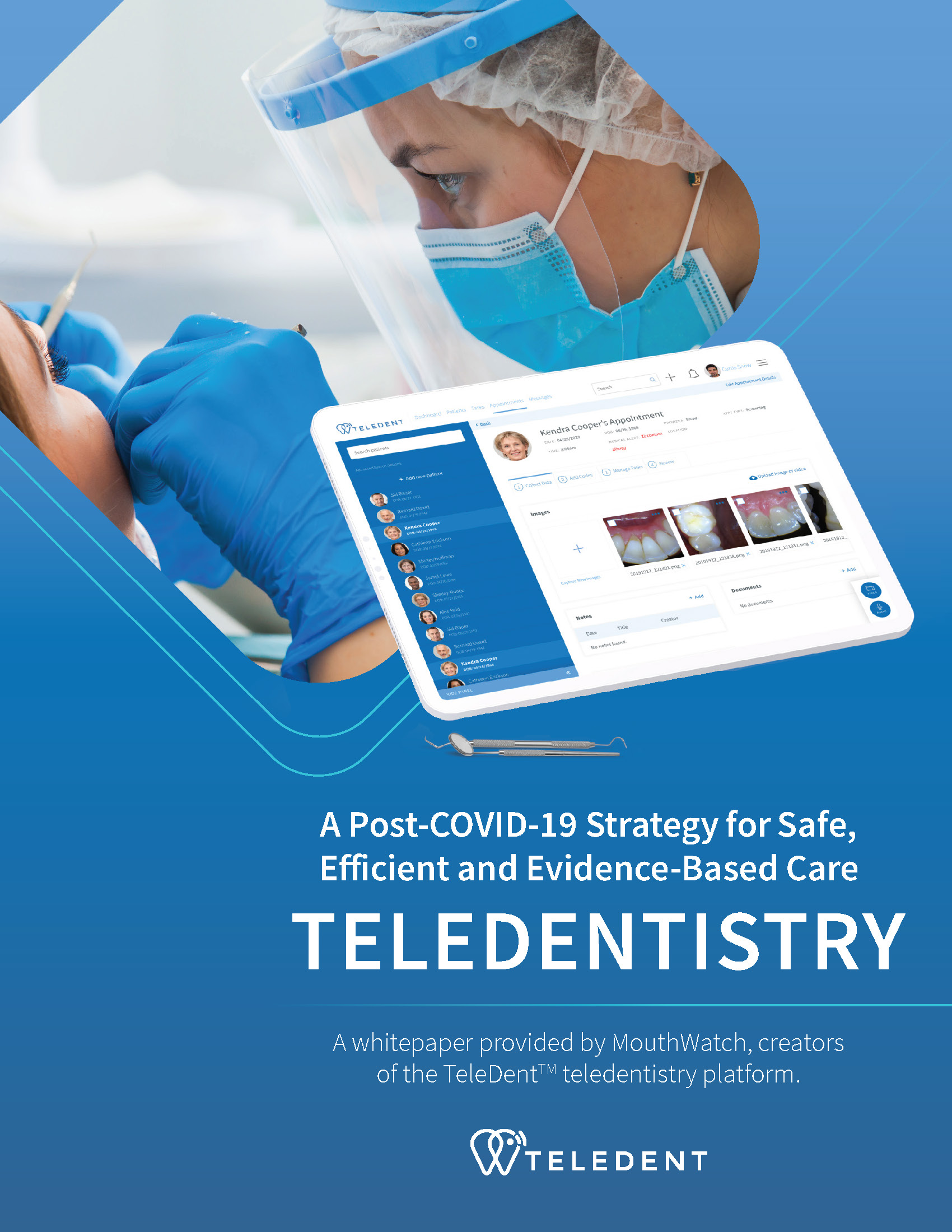 Teledentistry - A post-COVID strategy | MouthWatch Whitepaper COVER